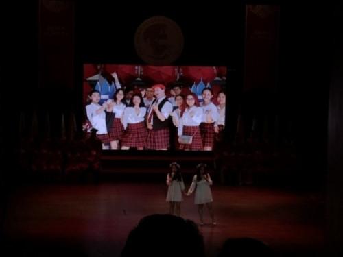 Màn hình Led Âu Lạc (Alta Media) lắp đặt màn hình Led hội trường - Lễ Tốt Nghiệp Trường Quốc Tế Á Châu - loại màn hình: Màn hình Led P4