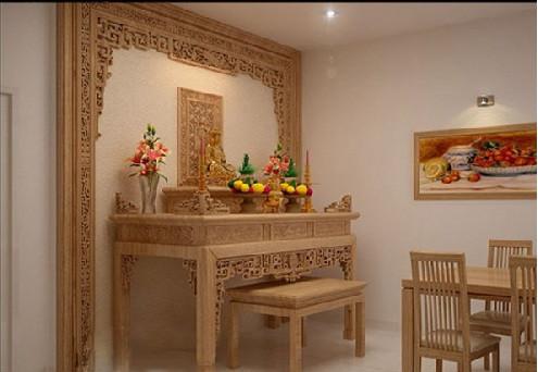 Vách ngăn chắn phòng bàn thờ, mẫu vách ốp tường đẹp?