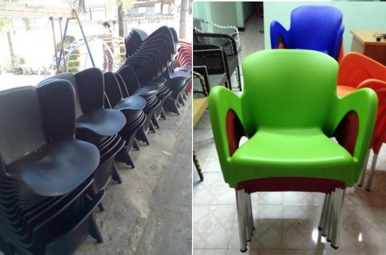 Ghế nhựa cafe chân inox giá rẻ tại TPHCM(1)
