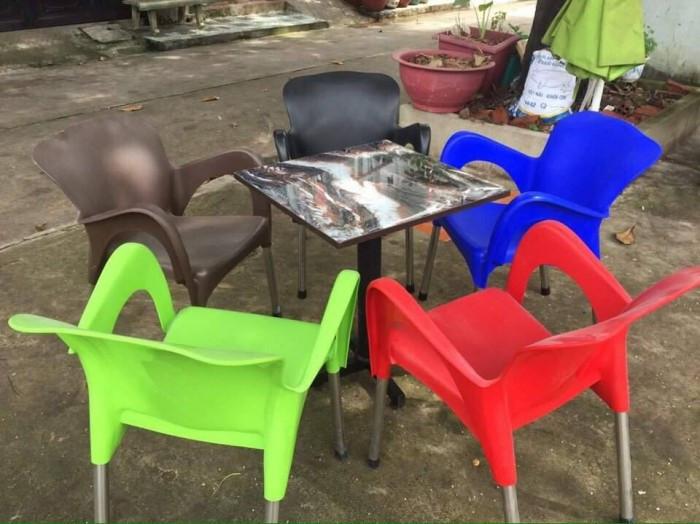 Ghế nhựa cafe chân inox giá rẻ tại TPHCM(3)