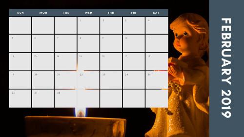 Mẫu in lịch để bàn Công giáo - In lich Công giáo TPHCM - Tháng 2