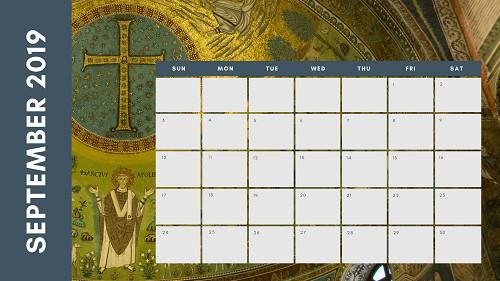 Mẫu in lịch để bàn Công giáo - In lich Công giáo TPHCM - Tháng 9