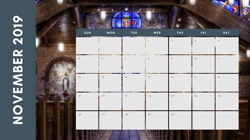 Mẫu in lịch để bàn Công giáo - In lich Công giáo TPHCM - Tháng 11