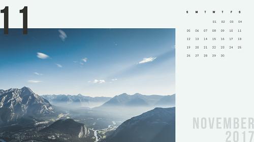 Mẫu lịch để bàn hiện đại - tháng 11