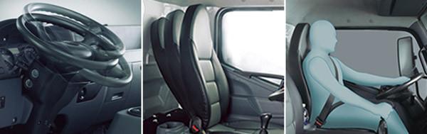 nội thất xe tải fuos fi an toàn và tiện nghi