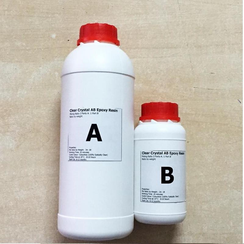 Cách đổ keo epoxy resin 2 thành phần trong suốt làm tem decal 3D