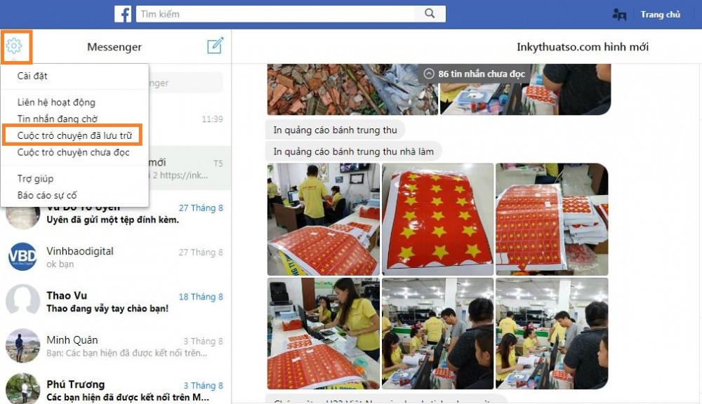 Mách bạn cách khôi phục lại tin nhắn đã xóa trên Messenger Facebook - 2