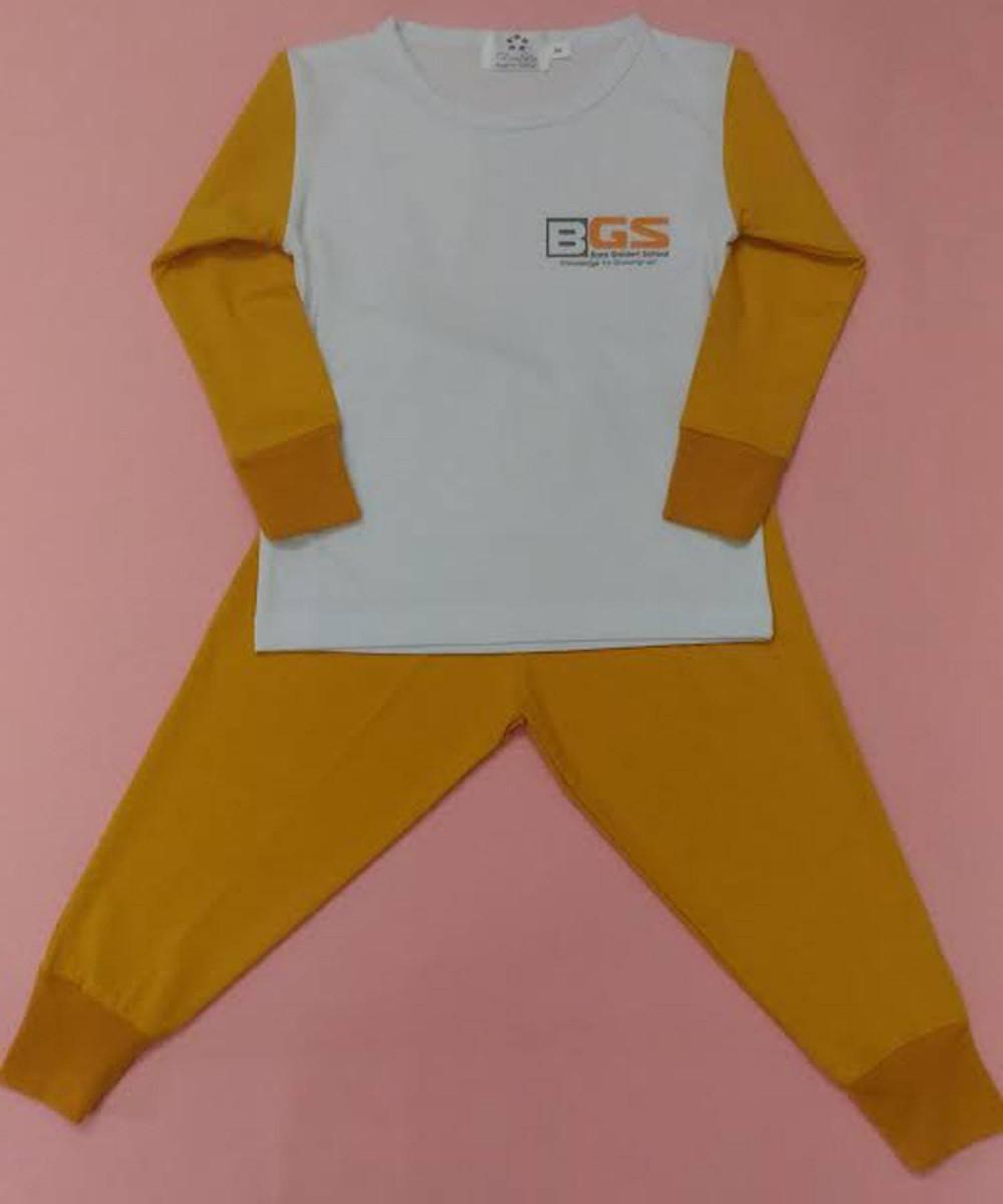 Mẫu đồng phục mầm non - bộ dài tay, quần dài