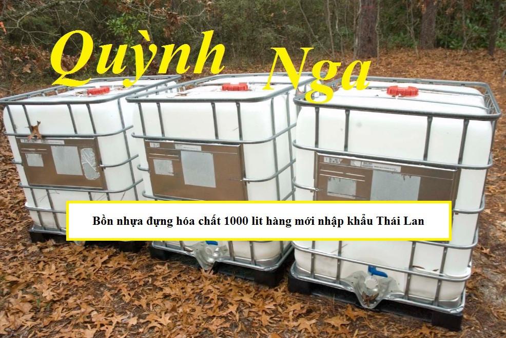 Bồn nhựa đựng hóa chất 1000 lit hàng mới nhập khẩu Thái Lan