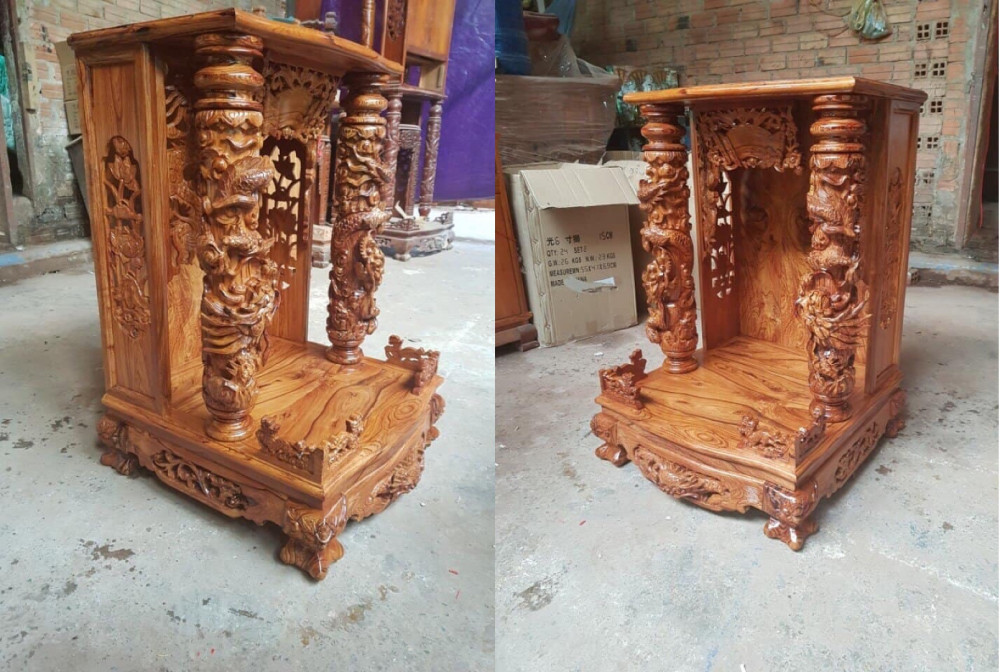 Giá bàn thờ Ông Địa, Thần Tài bằng gỗ tại TPHCM