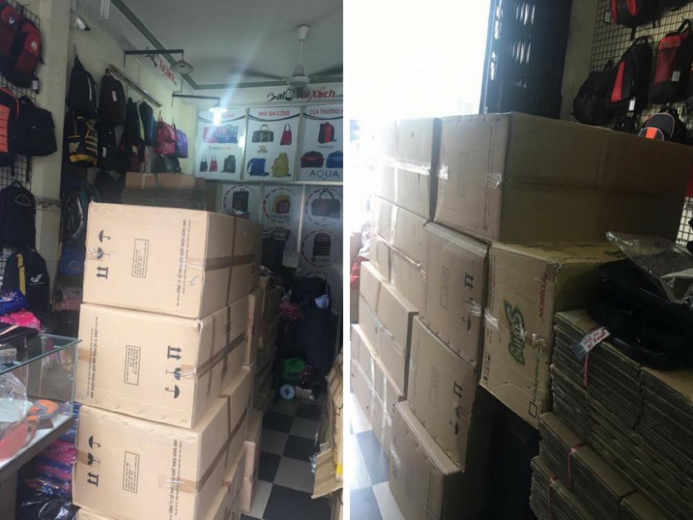 Đóng hàng dây nịt giá sỉ chờ vận chuyển đến cho khách hàng tại showroom Ba Lô Túi Xách