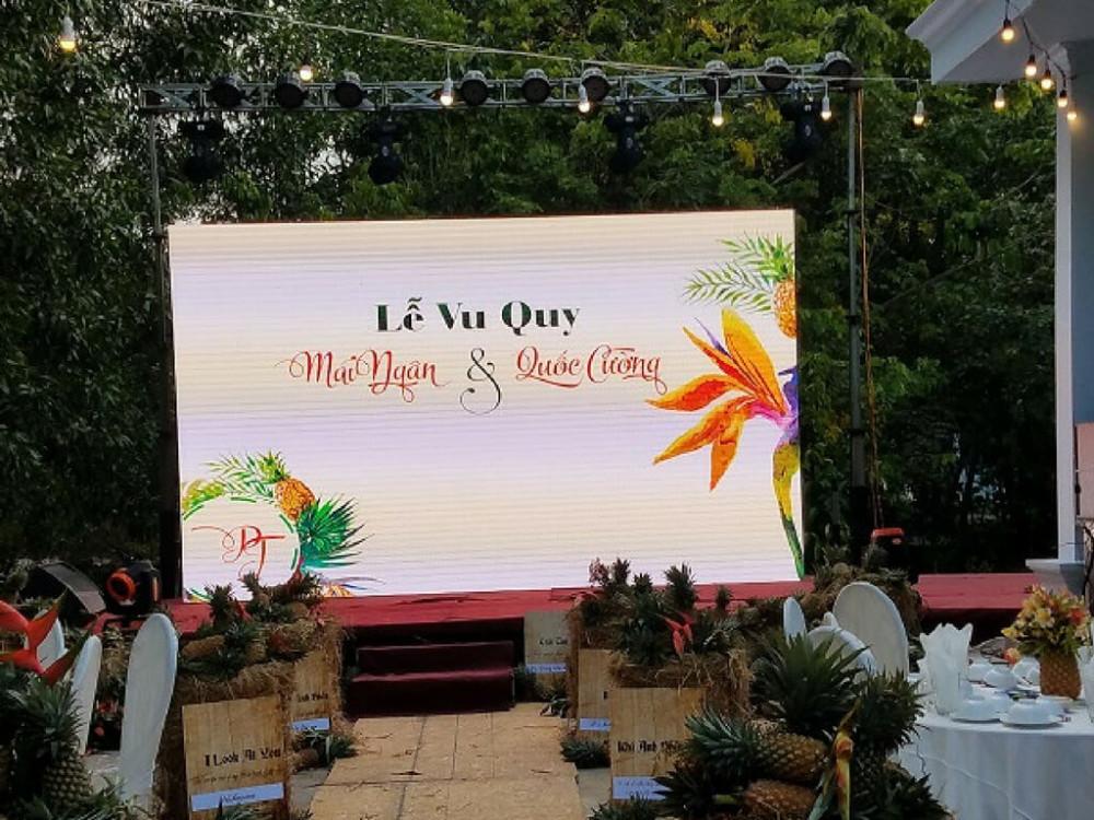 Màn hình led đám cưới, lễ vu quy, lễ tân hôn - dòng màn hình Led ngoài trời