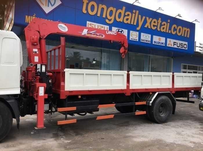 Giá lăn bánh xe tải Hino 8 tấn gắn cẩu tại TPHCM