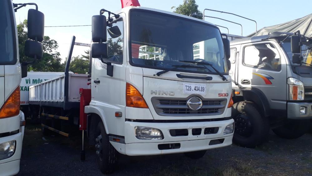 Thông số kỹ thuật xe tải gắn cẩu Hino 8 tấn