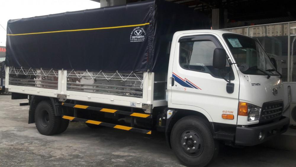 Xe tải Hyundai HD120SL 8 tấn thùng mui bạt