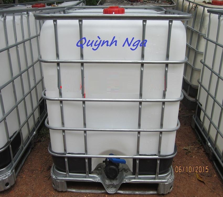 Thùng nhựa 1000 lit, bồn nhựa 1000l cũ giá rẻ, thùng đựng nước 1000l