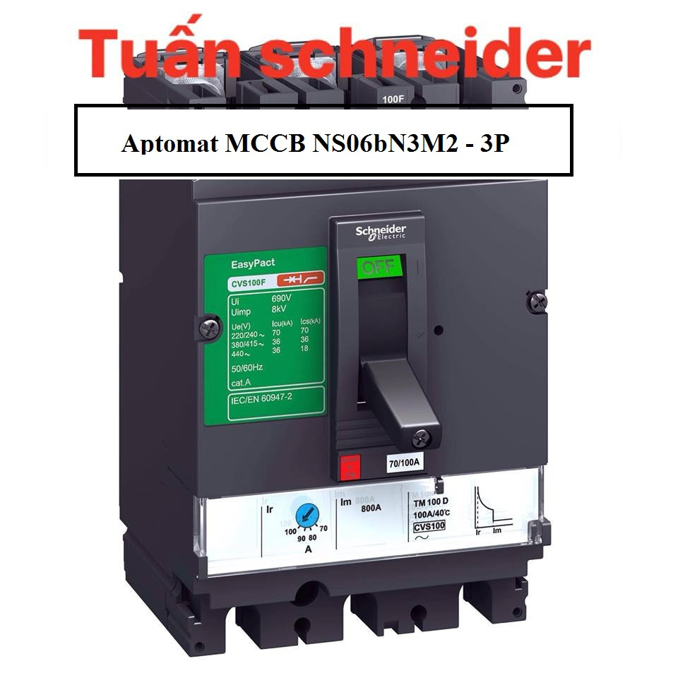 Tìm hiểu Aptomat MCCB NS06bN3M2 - 3P 630A 50ka