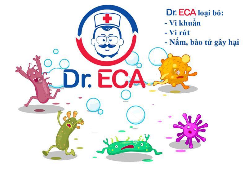 Dung dịch khử trùng Dr.ECA ngăn ngừa và loại bỏ vi khuẩn, vi nấm
