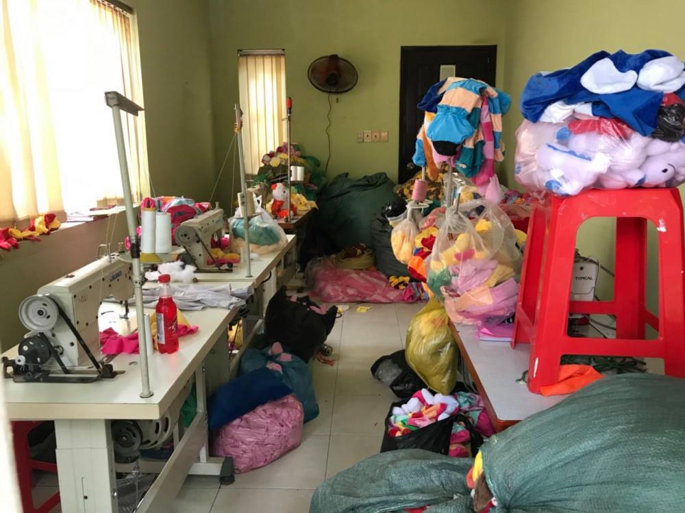 Công ty sản xuất thú nhồi bông tại TPHCM - Công ty may Trang Trần 1