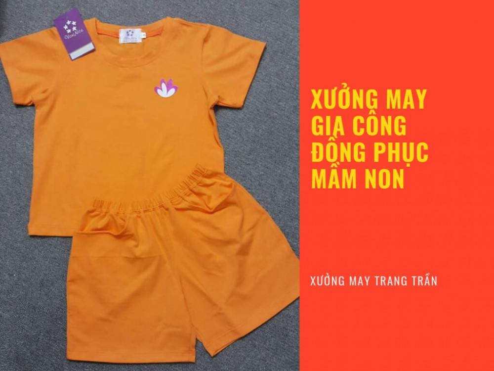 Xưởng may gia công đồng phục mần non - may quần áo đồng phục mầm non - Xưởng may Trang Trần
