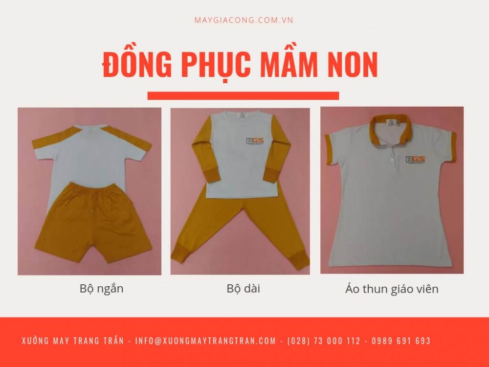 Xưởng may Trang Trần - thành phẩm may may quần áo đồng phục mầm non của chúng tôi