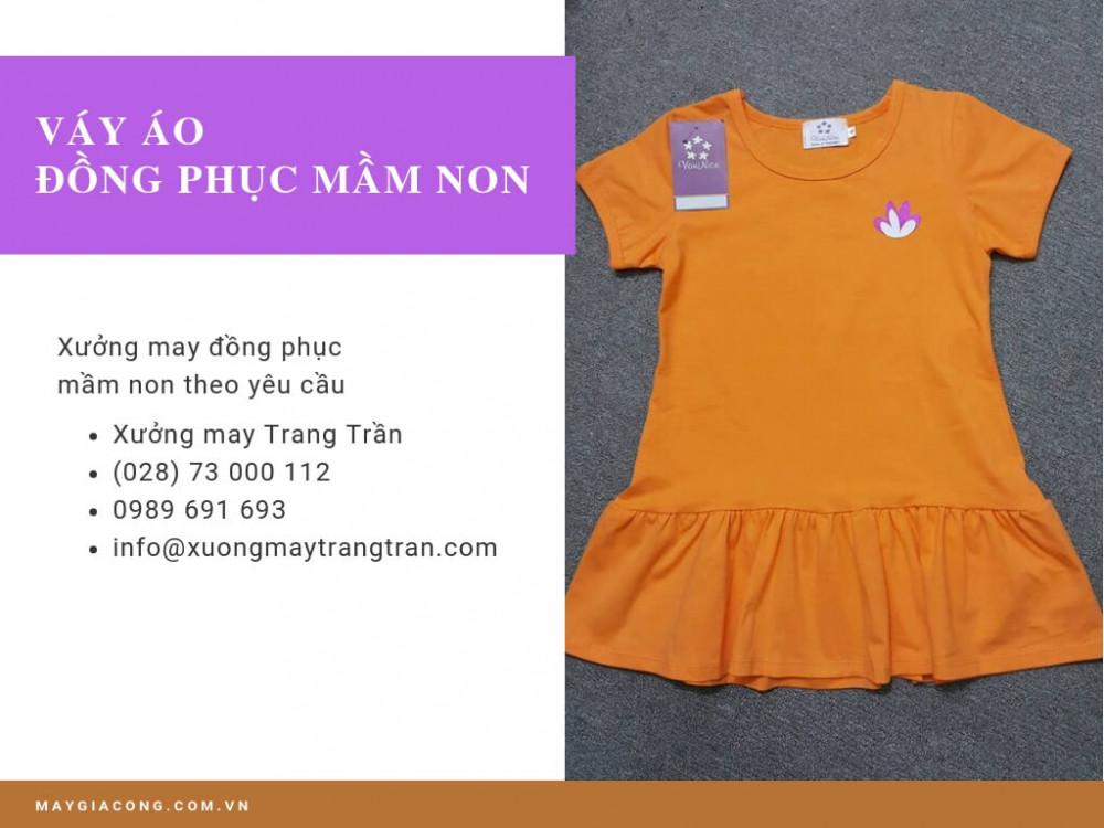 Nhận may váy áo đồng phục mầm non - xưởng may Trang Trần