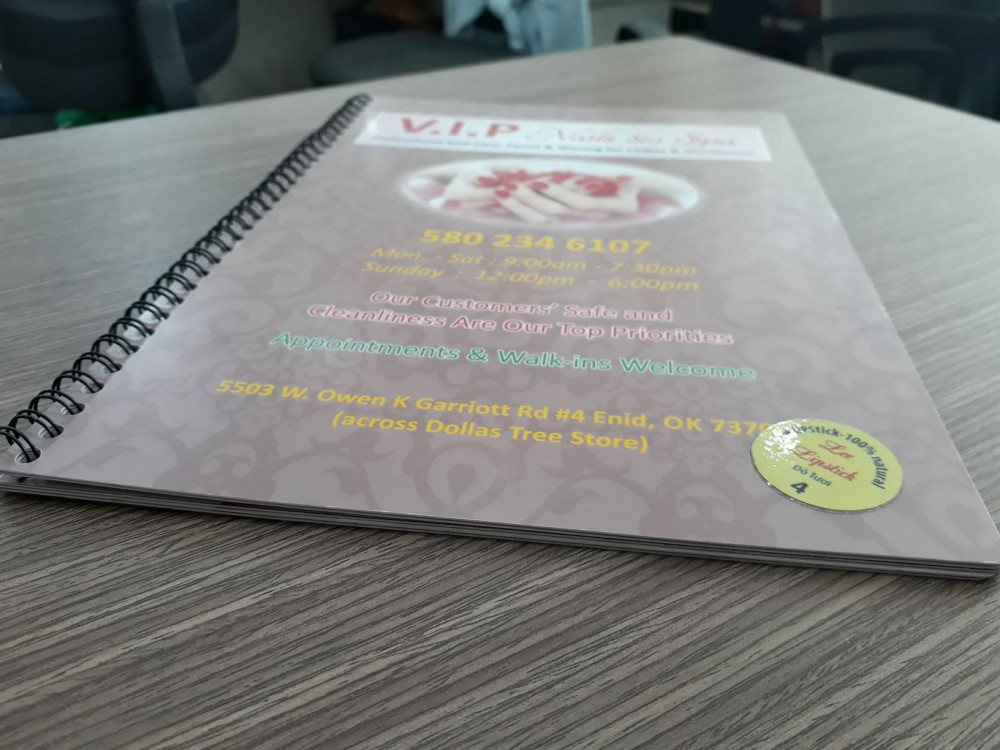 các chất liệu giấy in menu