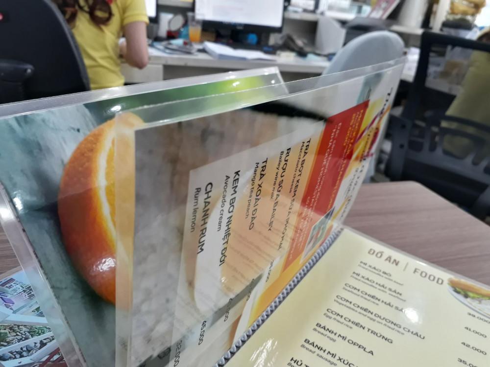 các chất liệu giấy in menu 1