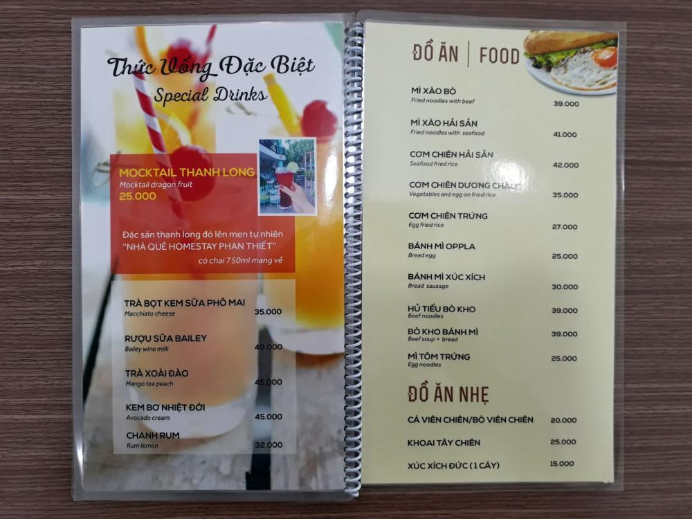 các chất liệu giấy in menu 2