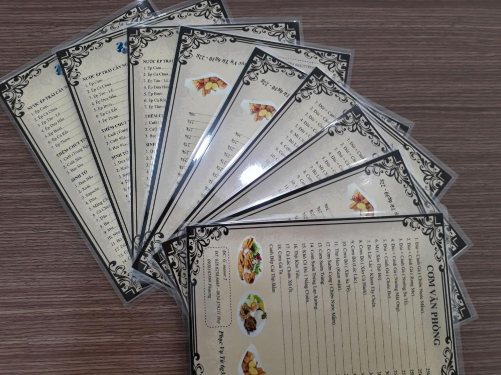 các chất liệu giấy in menu 7