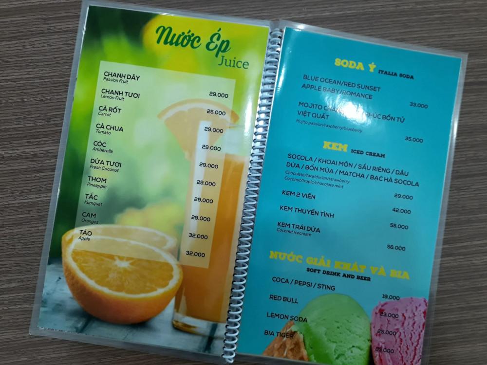 các chất liệu giấy in menu 8