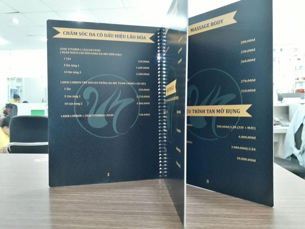 các chất liệu giấy in menu 10