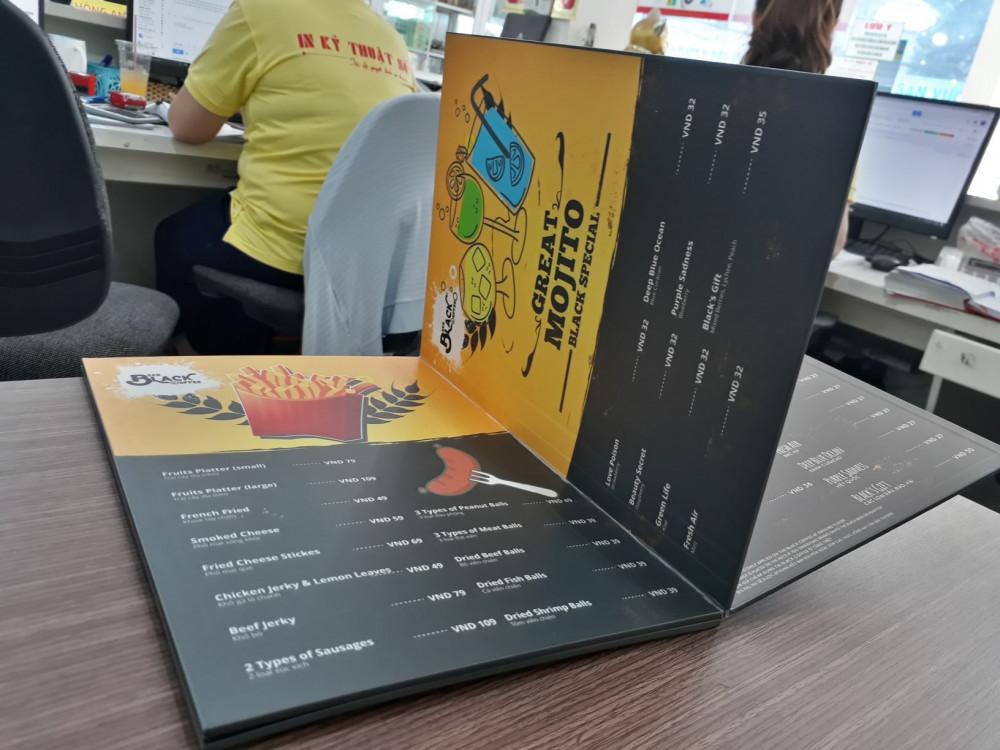 các chất liệu giấy in menu 12