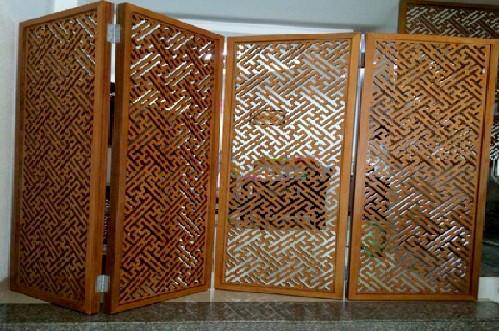 Những tấm vách bình phong cnc bằng gỗ và nhựa đẹp