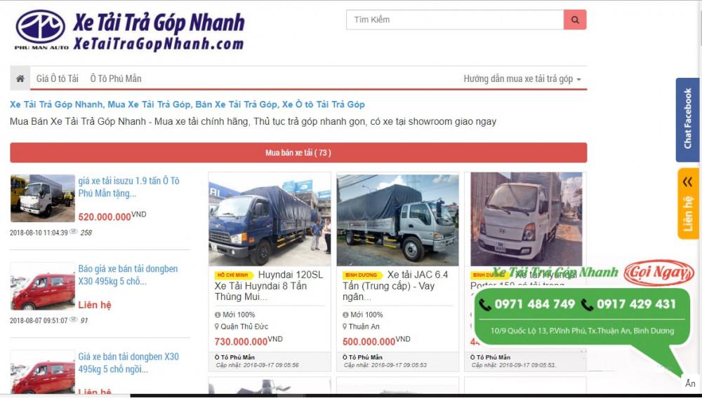 Thiết kế web bán xe tải cần chức năng gì?