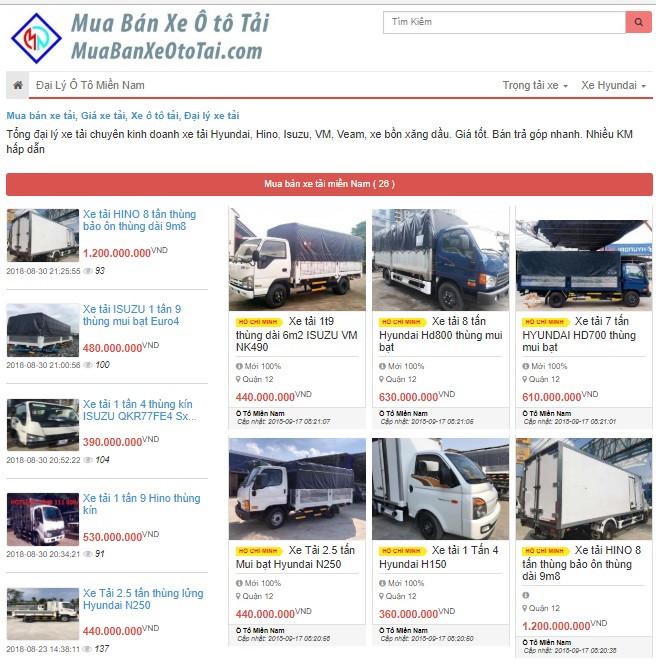 Thiết kế web bán xe tải cần chức năng gì?(1)