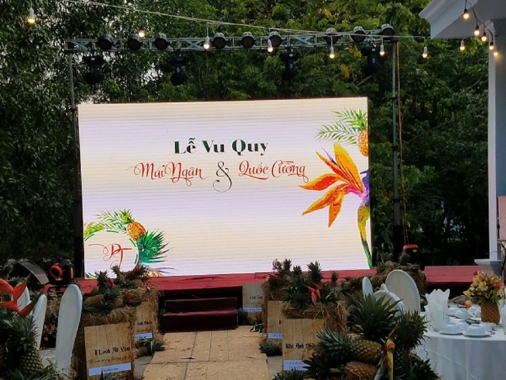 Dịch vụ cho thuê màn hình led nhà hàng tiệc cưới, màn hình Led tiệc cưới tại gia từ Màn hình Led Âu Lạc (Alta Media)