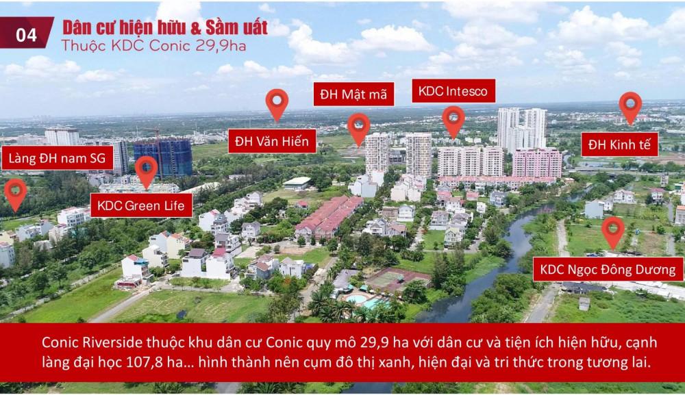 Tìm hiểu vị trí, tiện ích, thiết kế dự án căn hộ chung cư Conic Riverside quận 8