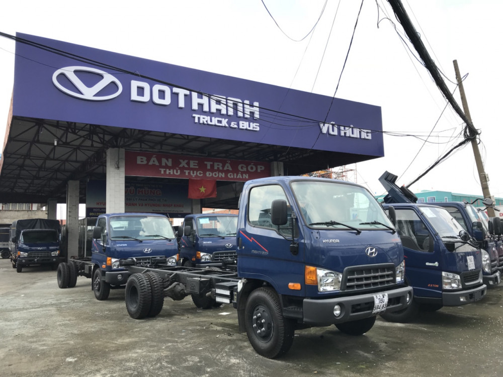 Công ty ô tô Vũ Hùng chuyên phân phối xe tải Hyundai lắp ráp, xe tải Hyundai nhập khẩu, xe chuyên dùng Hyundai lớn nhất khu vực Miền Nam
