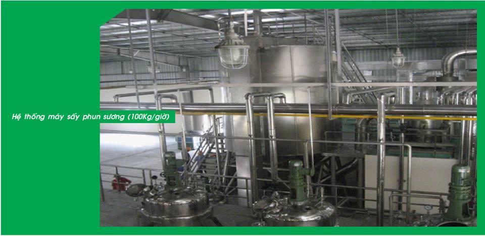 Công nghệ sản xuất cao khô bằng sấy phun sương hiện đại nhất Việt Nam(2)
