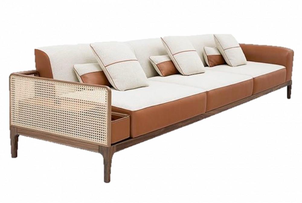 ghế sofa gỗ mây
