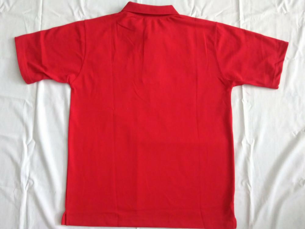 Mẫu áo thun đồng phục màu đỏ - mặt sau - Xưởng may Trang Trần