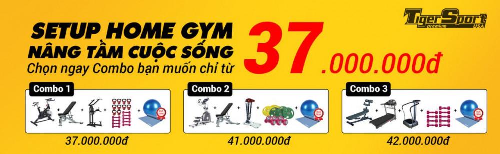 Chỉ với 37 triệu sở hữu ngay phòng gym tại nhà thiết bị chuẩn quốc tế