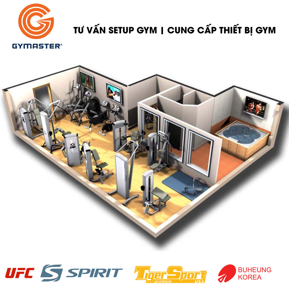 Gymaster tư vấn lắp đặt phòng gym trọn gói