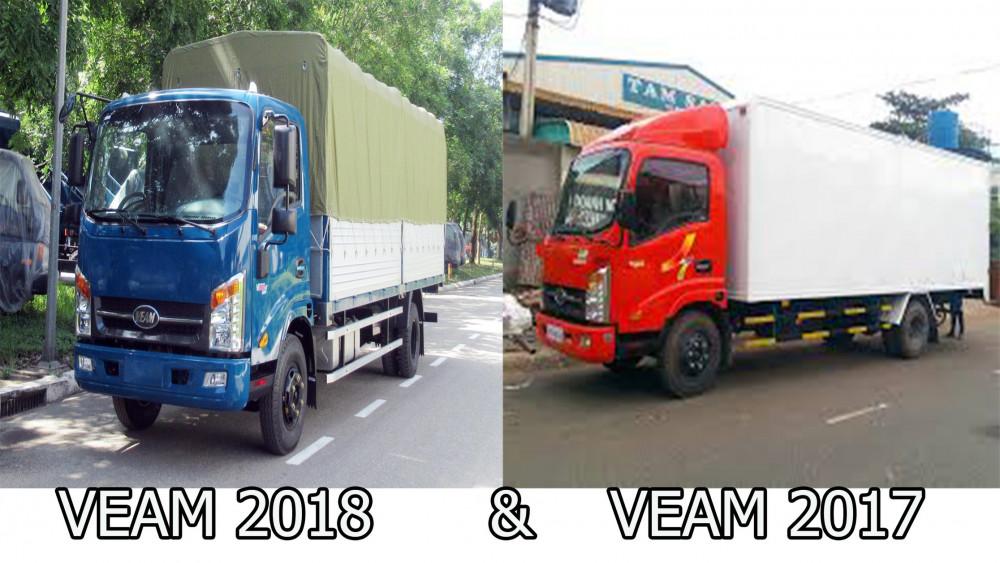 So sánh xe veam 1t9 thùng 6 mét đời 2018 tốt hơn đời 2017 không?