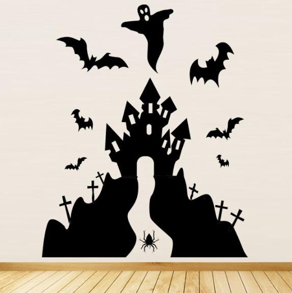 Gợi ý những mẫu decal dán tường trang trí Halloween