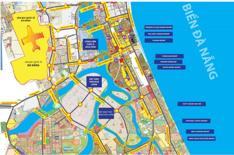 Vị trí, cơ sở hạ tầng, tiện ích dự án đất nền khu đô thị Nam Hòa Xuân Đà Nẵng