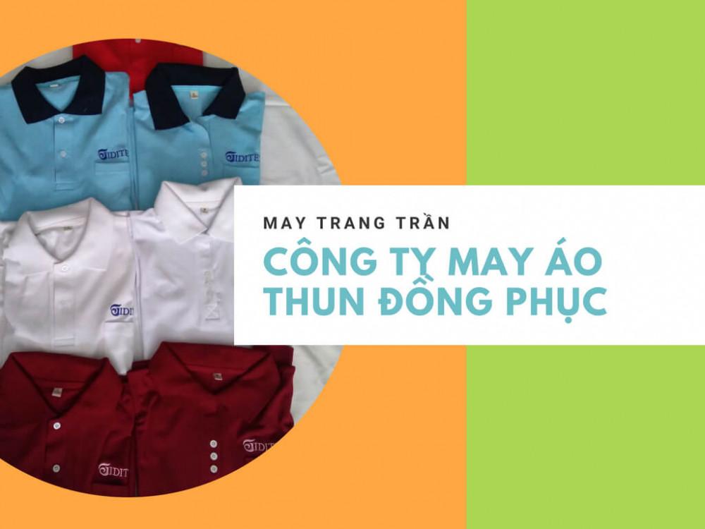 Mẫu áo thun đồng phục công ty - thành phẩm may áo thun từ xưởng may Trang Trần