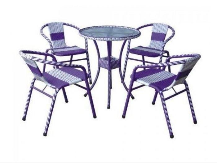 Giá bán bàn ghế nhựa giả mây ngoài trời tại TPHCM