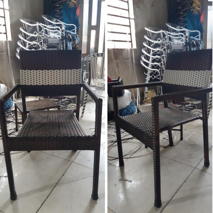 Mẫu bàn ghế mây nhựa cafe đẹp